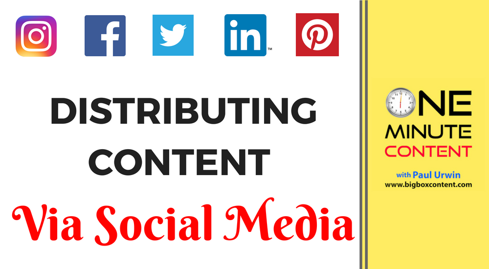 Distributing Content Via Social Media