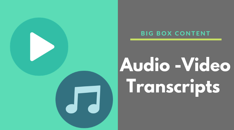 Audio -Video Transcripts