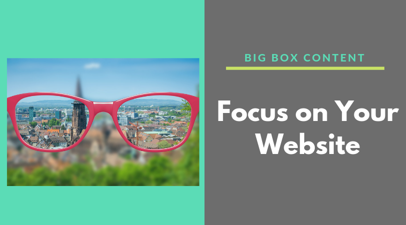 Focus On Your Website